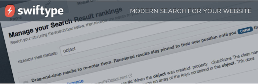 plugin search wordpress swiftype