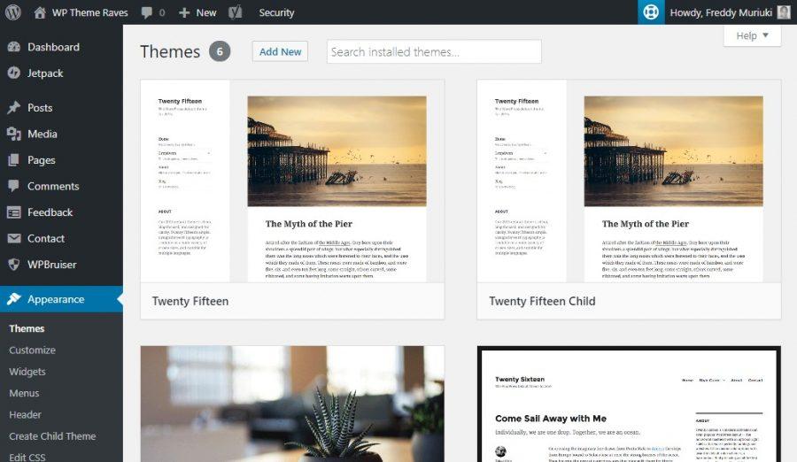 Quản lý theme WordPress