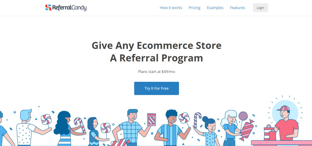 ReferralCandy trang landing page