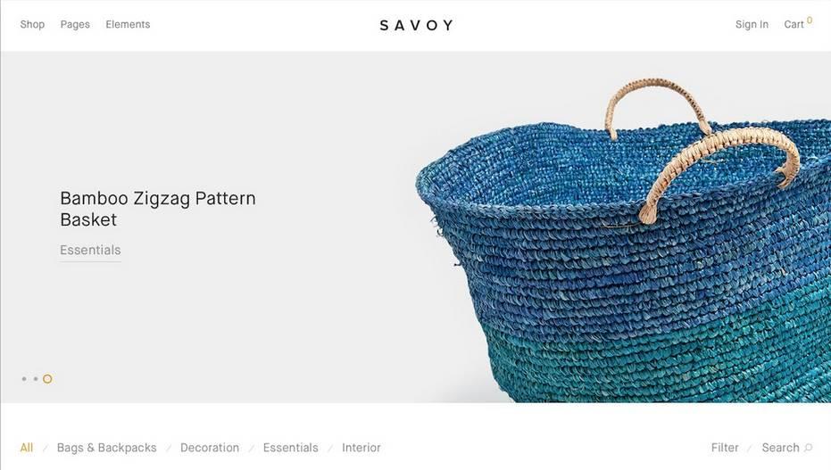 savoy woocommerce theme