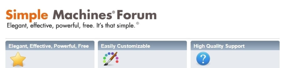 Trang chủ Simple Machines Forum.