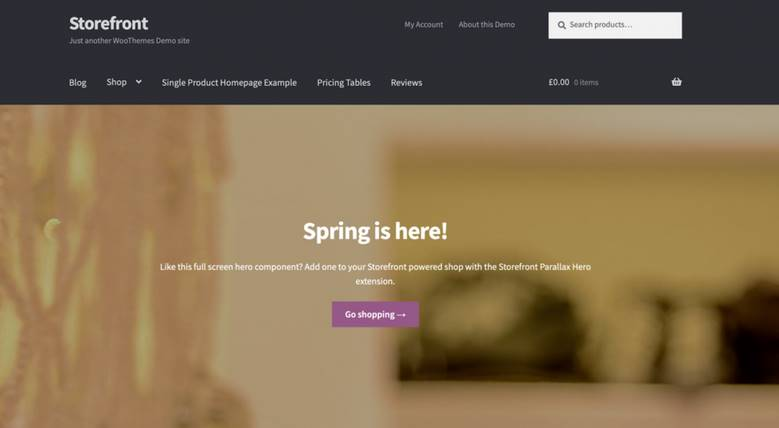 storefront theme WordPress