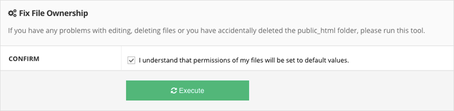sửa lỗi file và directory permission