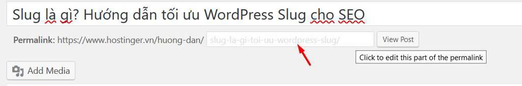 sửa wordpress slug