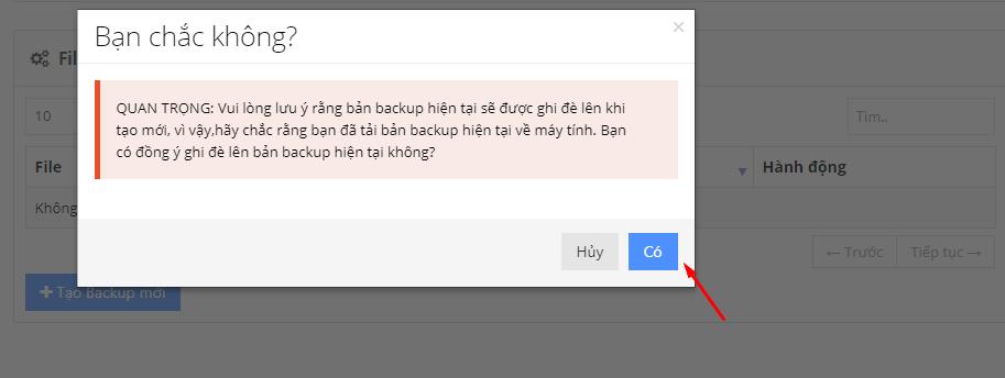 tải backup wordpress