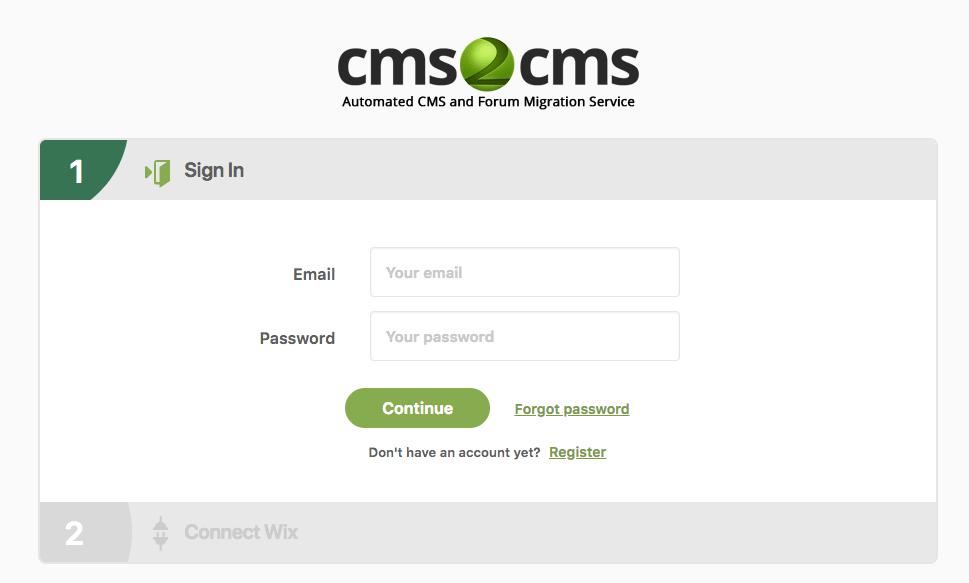 tạo tài khoản cms2cms