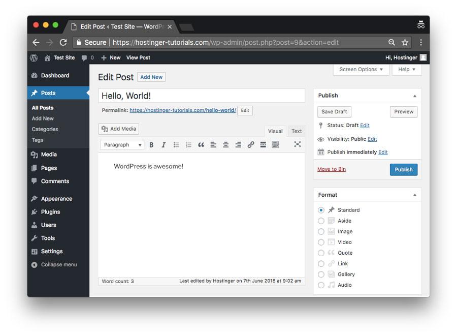 WordPress là gì? Tạo bài viết WordPress mới