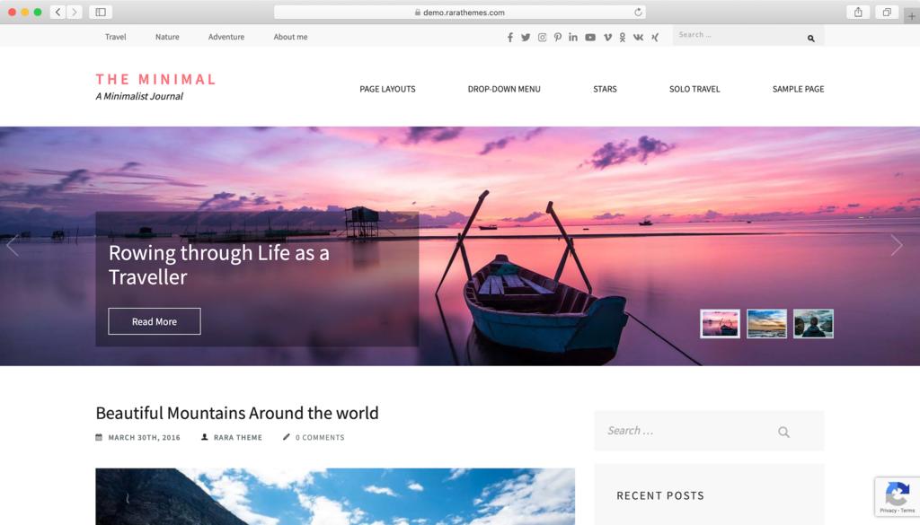 theme Minimal WordPress