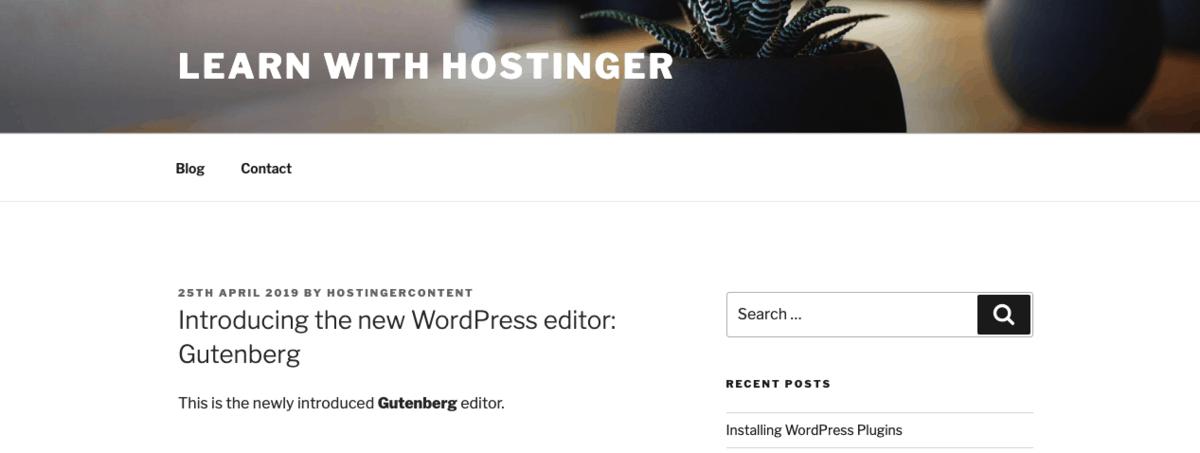 kết quả sau khi sửa HTML trong WordPress Post