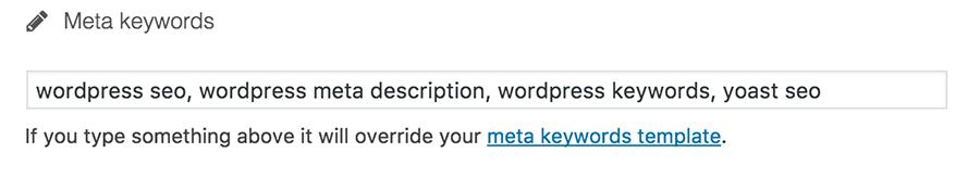 thêm keywords vào wordpress
