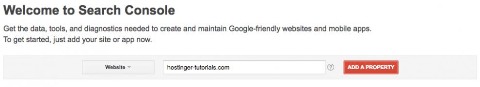 Thêm site vào google search console