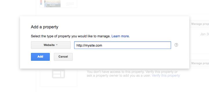 thêm site vào Google search engine