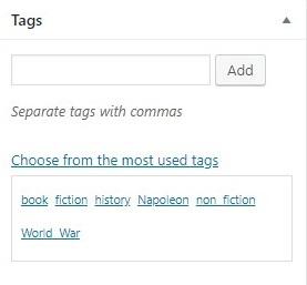 thêm tag taxonomy vào trong bài viết