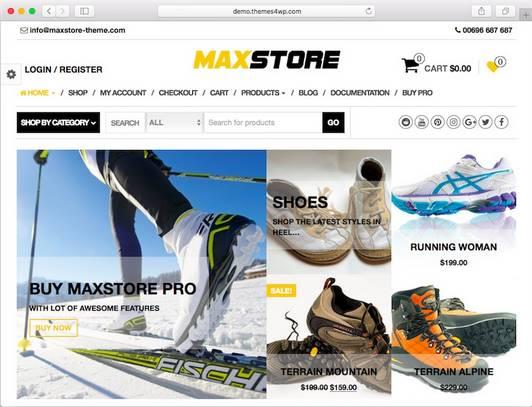 theme wordpress ecommerce max store