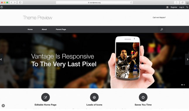 theme WordPress free vantag responsive