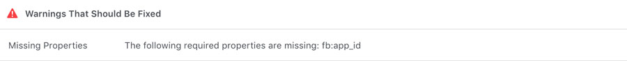Thông báo lỗi facebook debugger error
