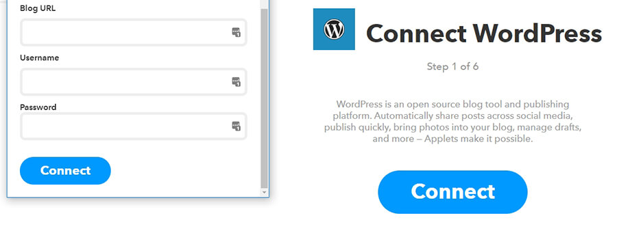 thông tin đăng nhập blog WordPress