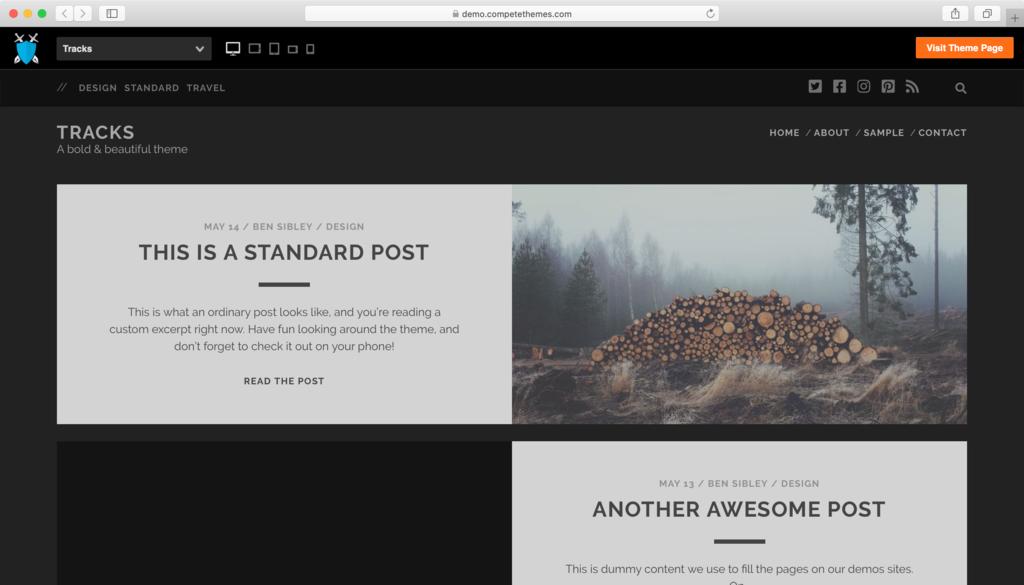 theme WordPress free Tracks