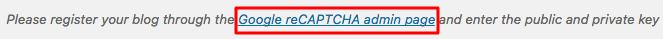 Trang admin google ReCaptcha