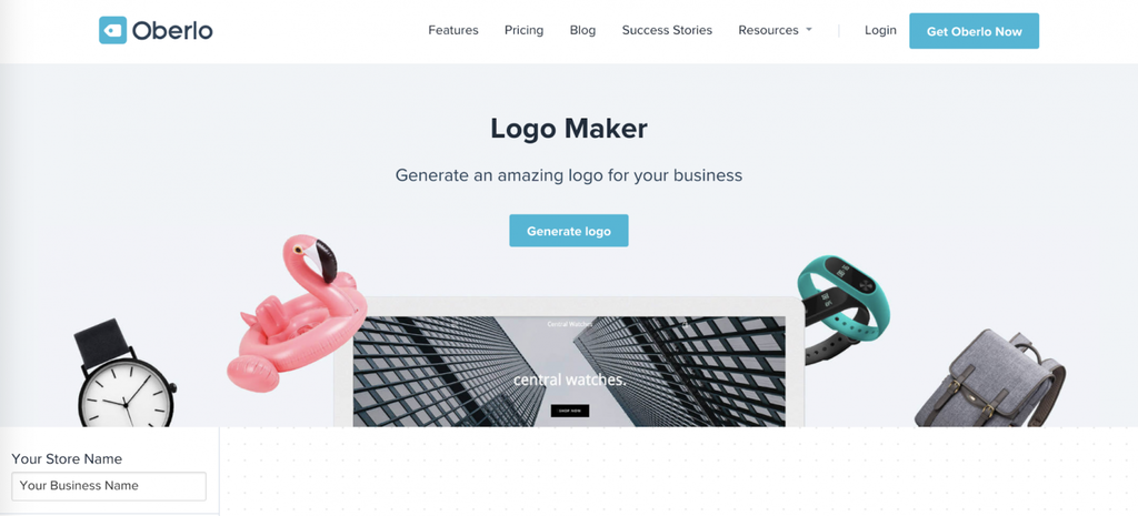 trang chủ oberlo logo maker