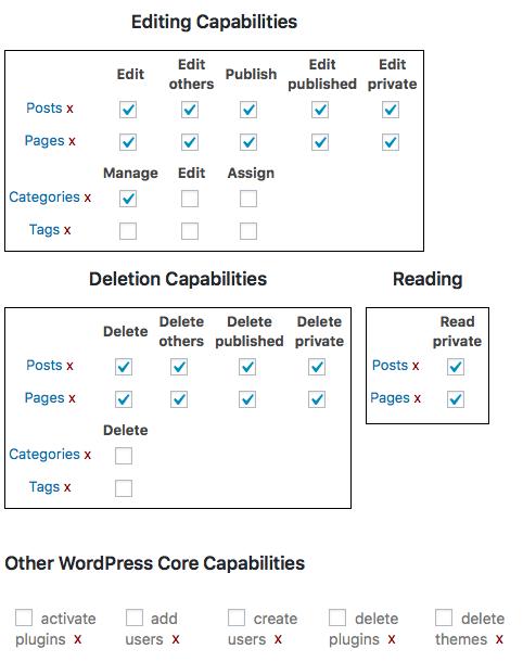 Tùy chỉnh tạo phân quyền user trong WordPress