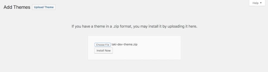 upload theme wordpress