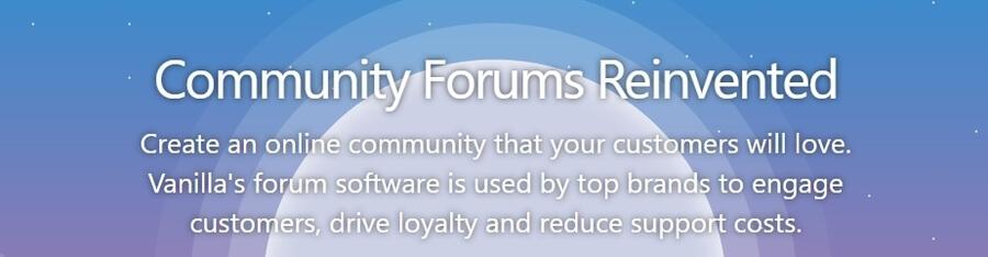 Trang chủ Vanilla Forums.