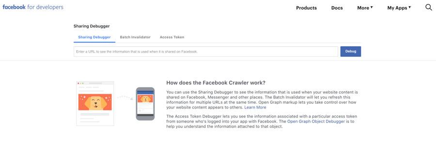 Ví dụ preview facebook debugger