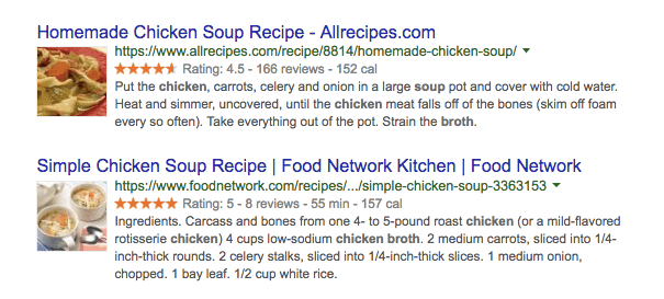 ví dụ schema markup