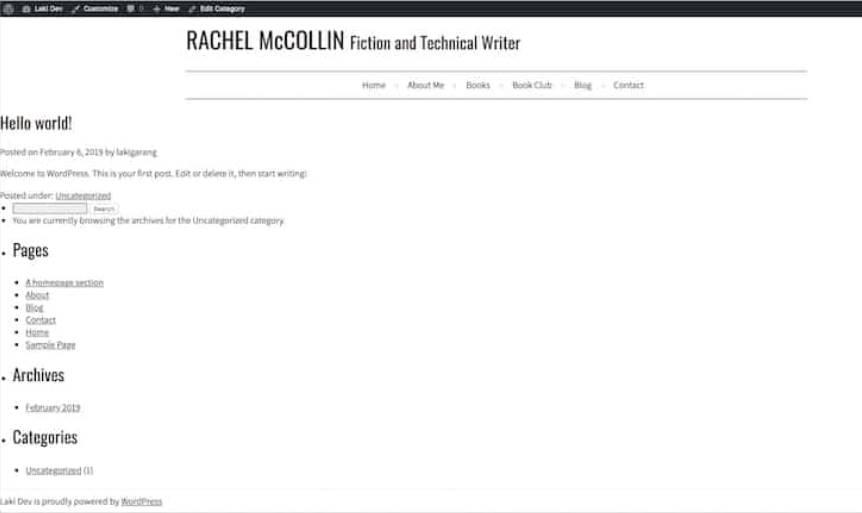 website html chuyển sang wordpress theme