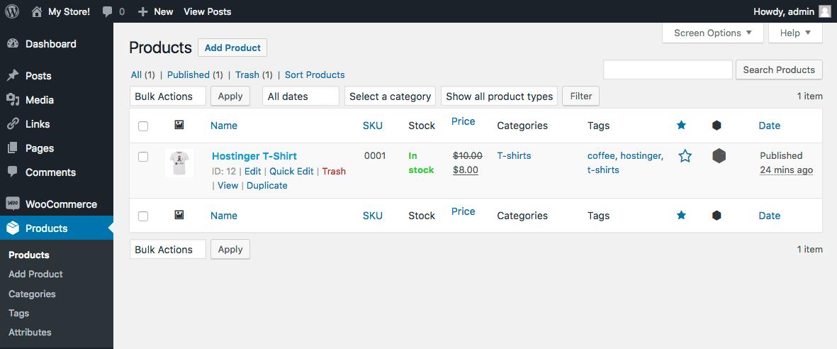 WooCommerce Manage Products