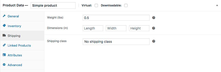 WooCommerce Product Shipping Section