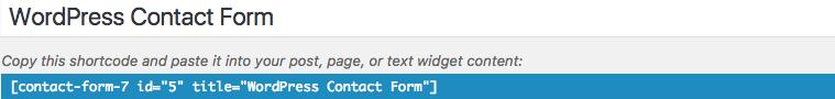 Contact form 7 Shortcut