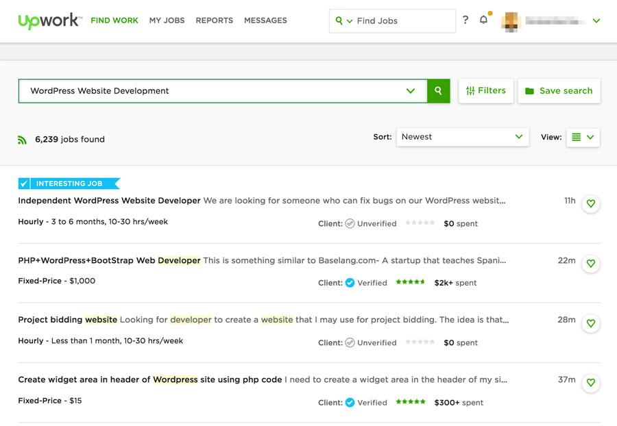 Công việc lập trình WordPress