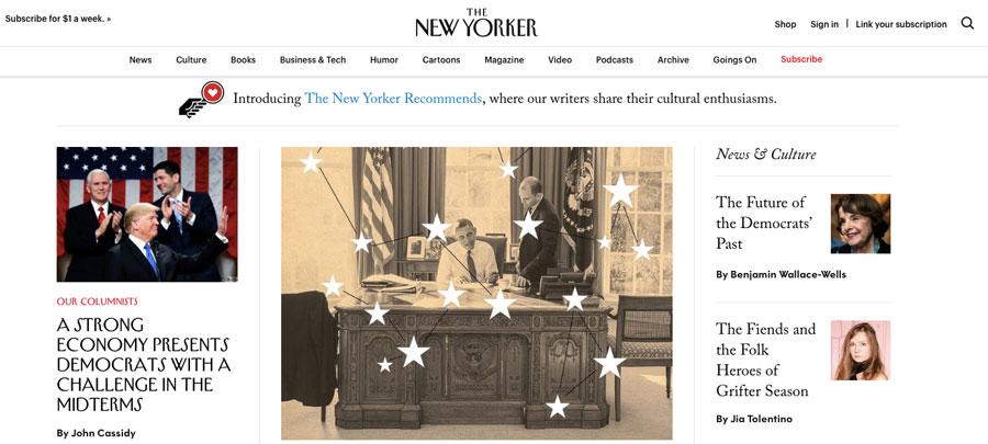 wordpress được dùng bởi the new yorker magazine