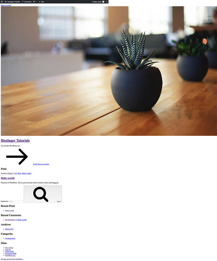 WordPress without CSS