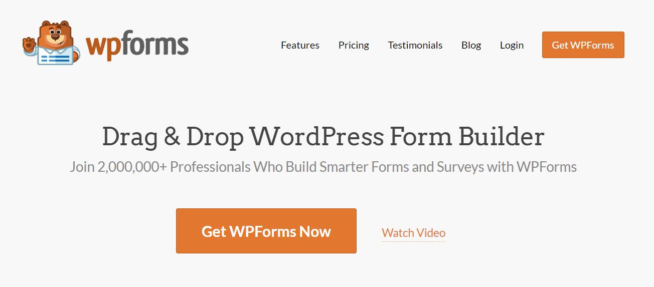 WP Forms trang chủ.