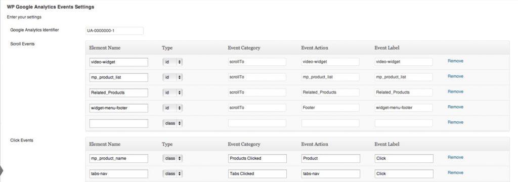 làm thế nào đặt event trong WP Google Analytics Event