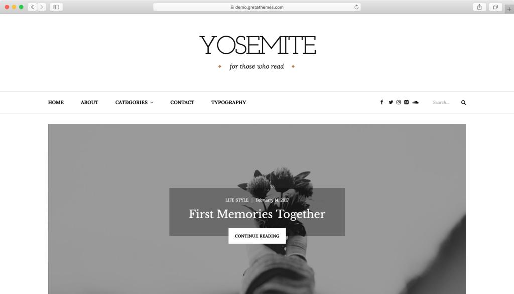 Theme WordPress Free Yosemite