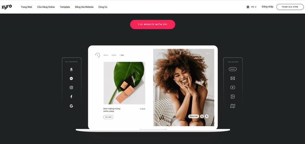 zyro, ý tưởng web design